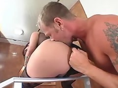 Exotic tranny gives hot black stud wild blowjob