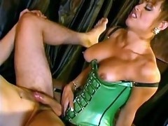 Gorgeous tranny nails guy senseless on black silk