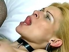 Lewd blond tranny gets hard drilling from hot guy