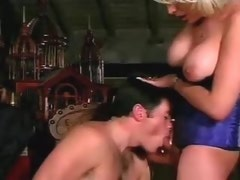 Guy fucks attractive shemale and she cums in his mouth