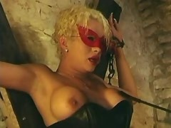 Kinky tranny gangbang with masks  chains and candles