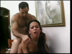 Horny tranny starts sucking at dick