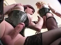 Two depraved shemales gets pleasure