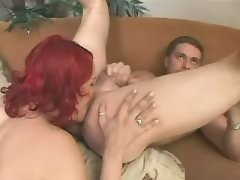 Shemale cutie drilled by blond guy