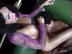 Depraved tranny sucked by latin boy